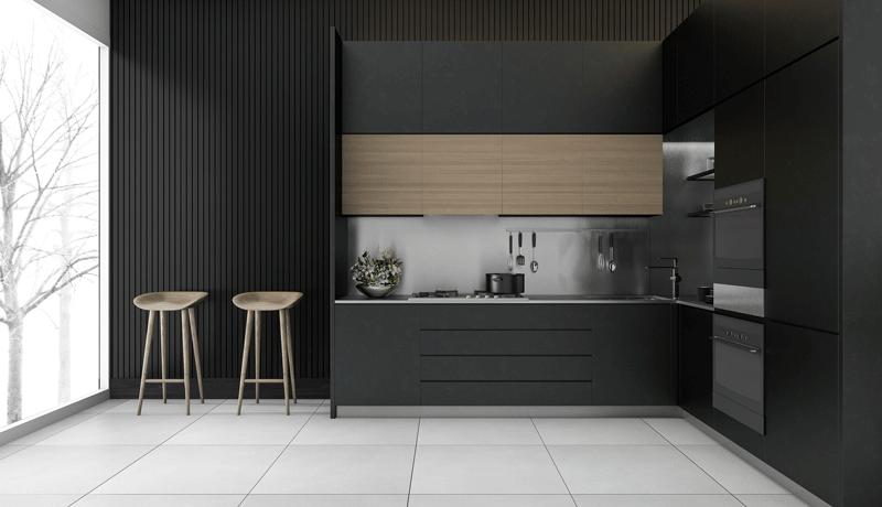 Modern Black Kitchen / kitchen decor trends 2021